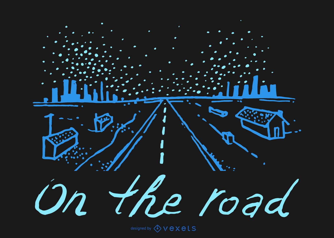 On the road doodle