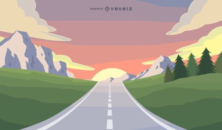 Road travel illustration