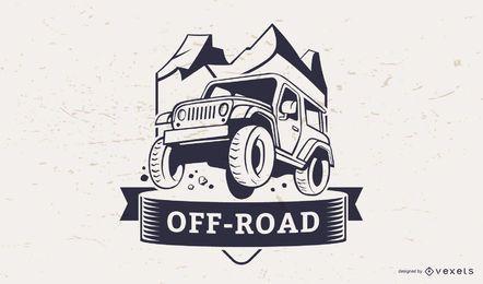 Modelo de logotipo de ilustração off-road