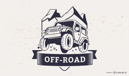 Off-road illustration logo template