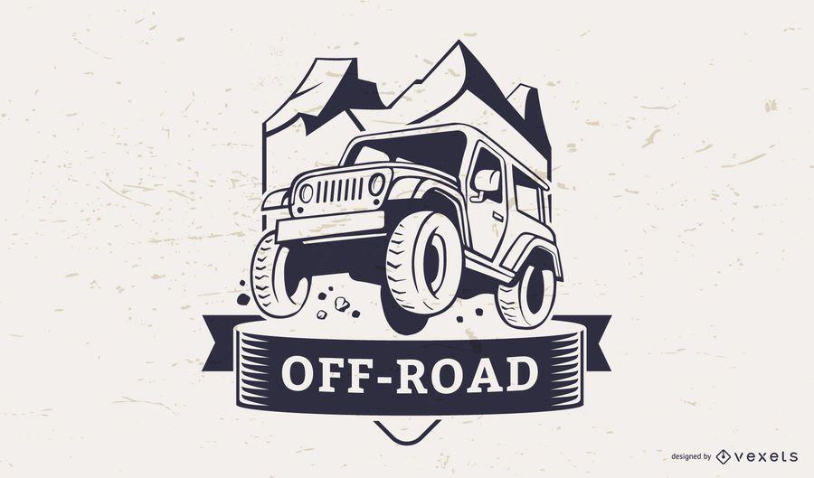 Off-road illustration logo template