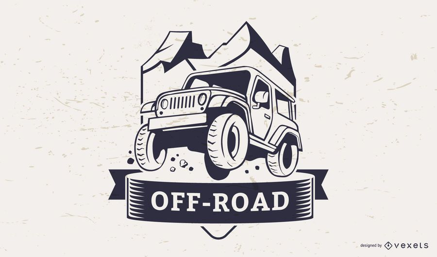 Off-Road-Illustration Logo Vorlage