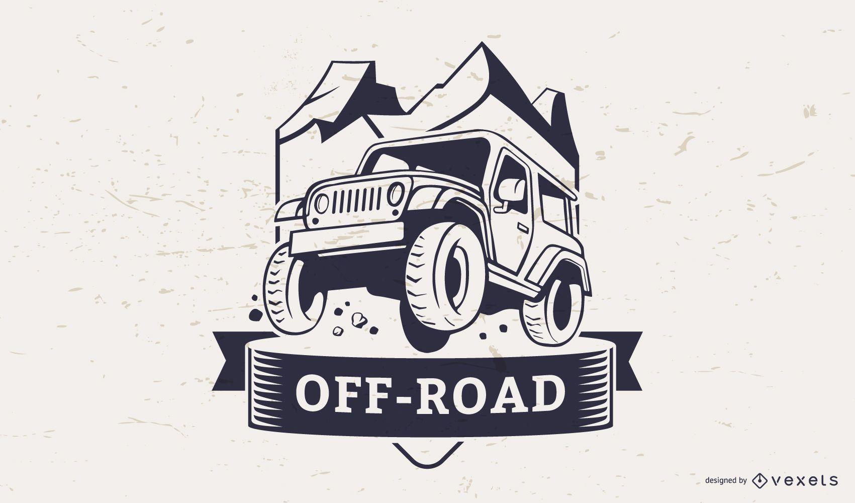 Plantilla de logotipo de ilustración todoterreno