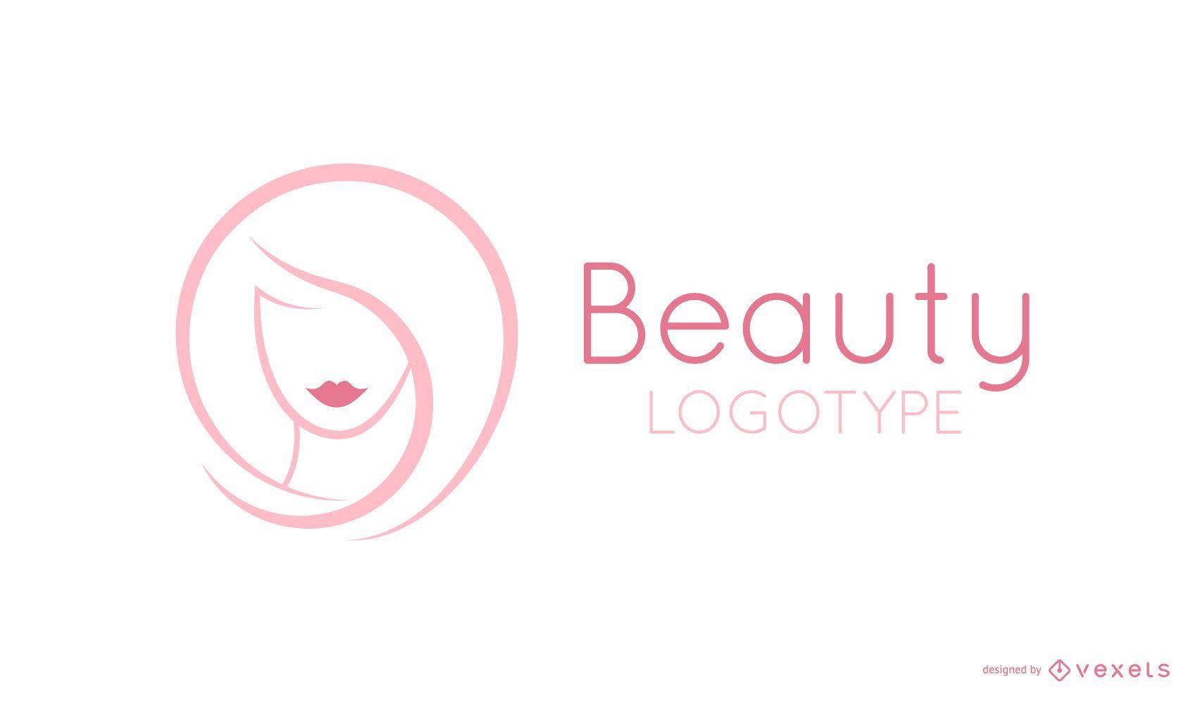 Modelo de logotipo de beleza