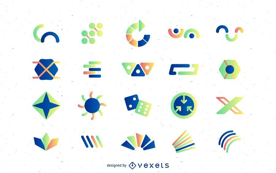 Abstract logo templates with gradients