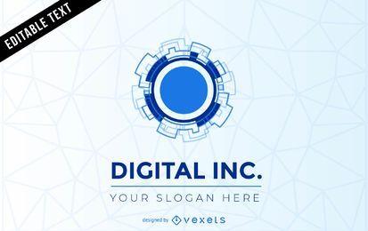 Plantilla de logotipo digital inc