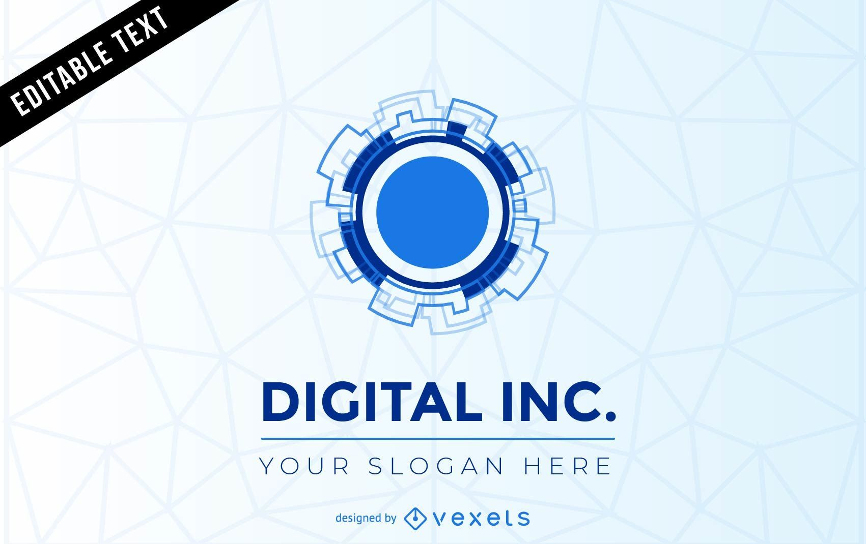 Digital inc logo template