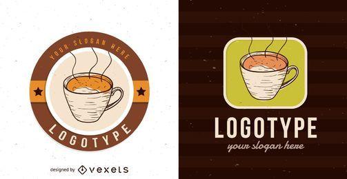 Design de modelo de logotipo de cafetaria