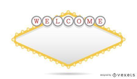 Cartel de bienvenida de Rhombus Las Vegas
