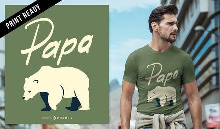 Diseño de camiseta Papa