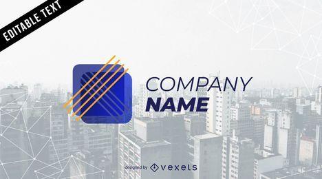 Logo de la empresa abstracta
