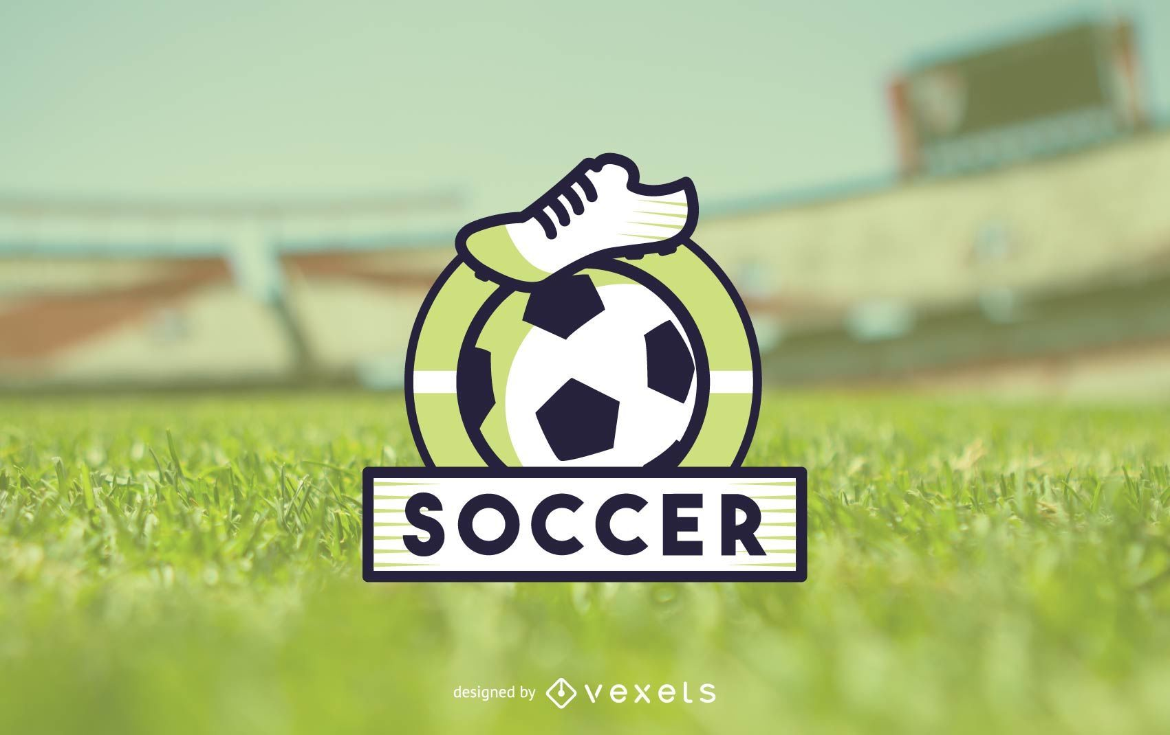 Modelo de logotipo de futebol