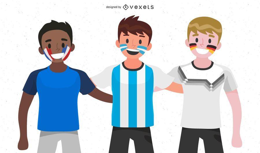 Fanáticos de la copa mundial