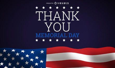 Memorial day gracias diseño