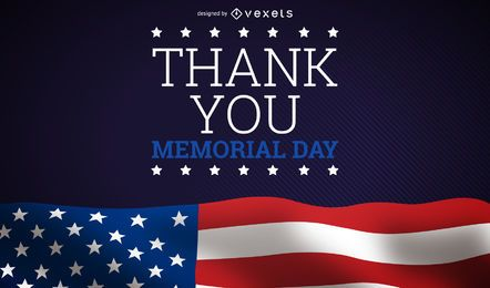 Memorial day thank you design
