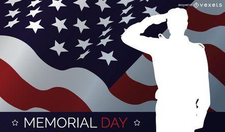 Memorial day salute design