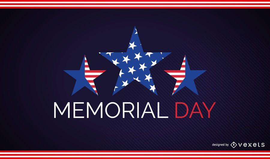 Memorial day stars design