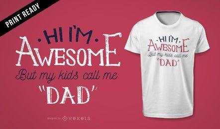 Diseño impresionante de la camiseta del regalo del papá