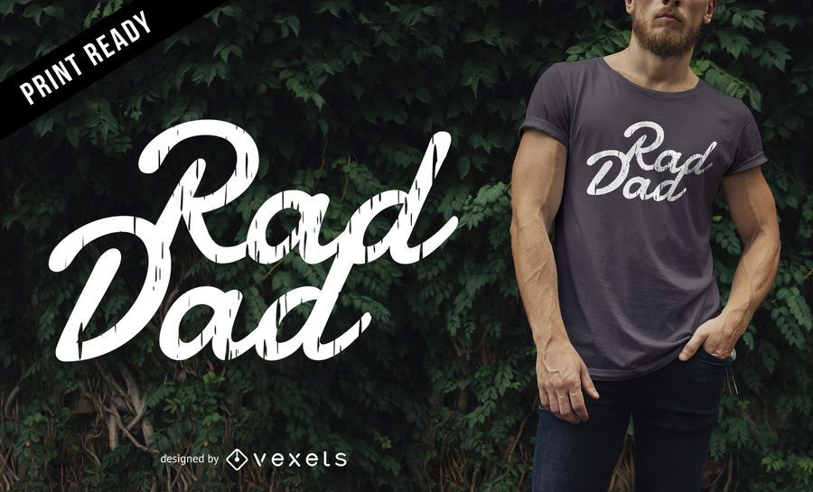 Rad dad t-shirt design