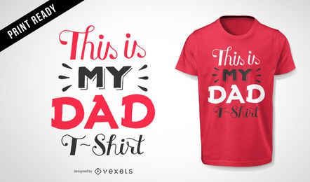 Diseño de camiseta de mi papá