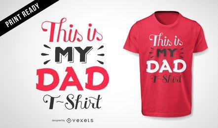 Diseño de camiseta de mi papá.