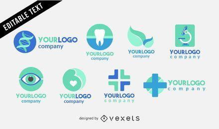 Conjunto de modelo de logotipo médico