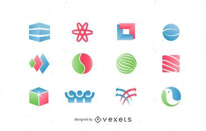 Elementos do logotipo da embalagem