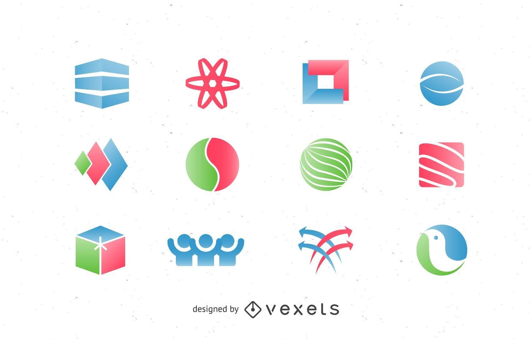 Elementos do logotipo do pacote