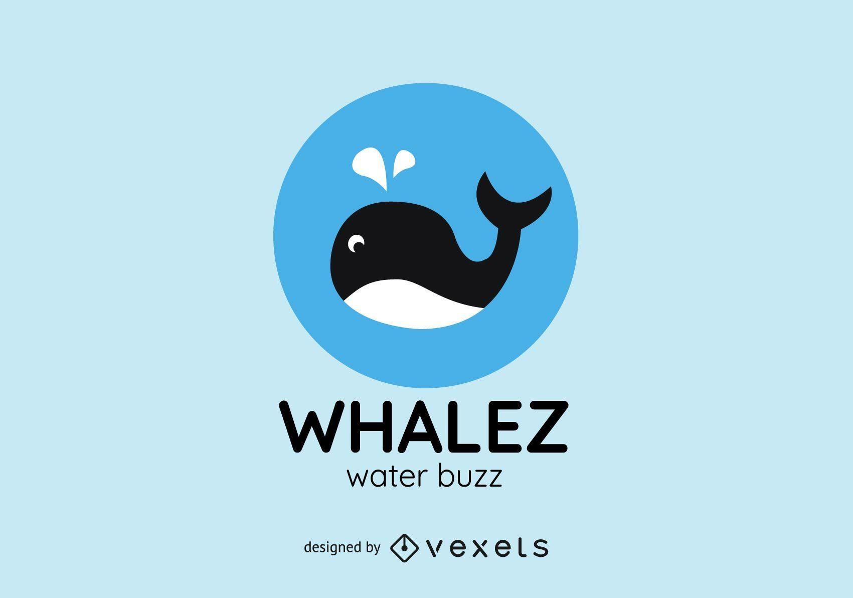 Plantilla de logotipo de ballena