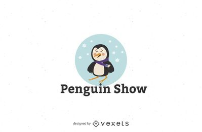 Plantilla de logotipo de pingüino