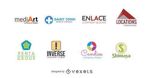 Conjunto de plantillas de logotipo de empresa