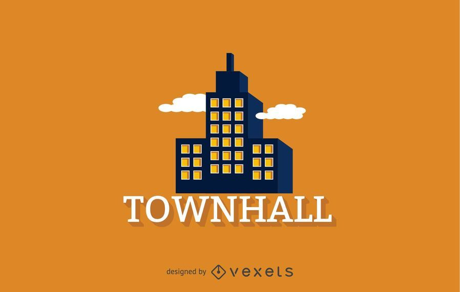 Townhall logo template