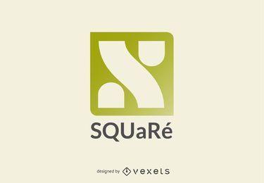 Plantilla de logotipo cuadrado