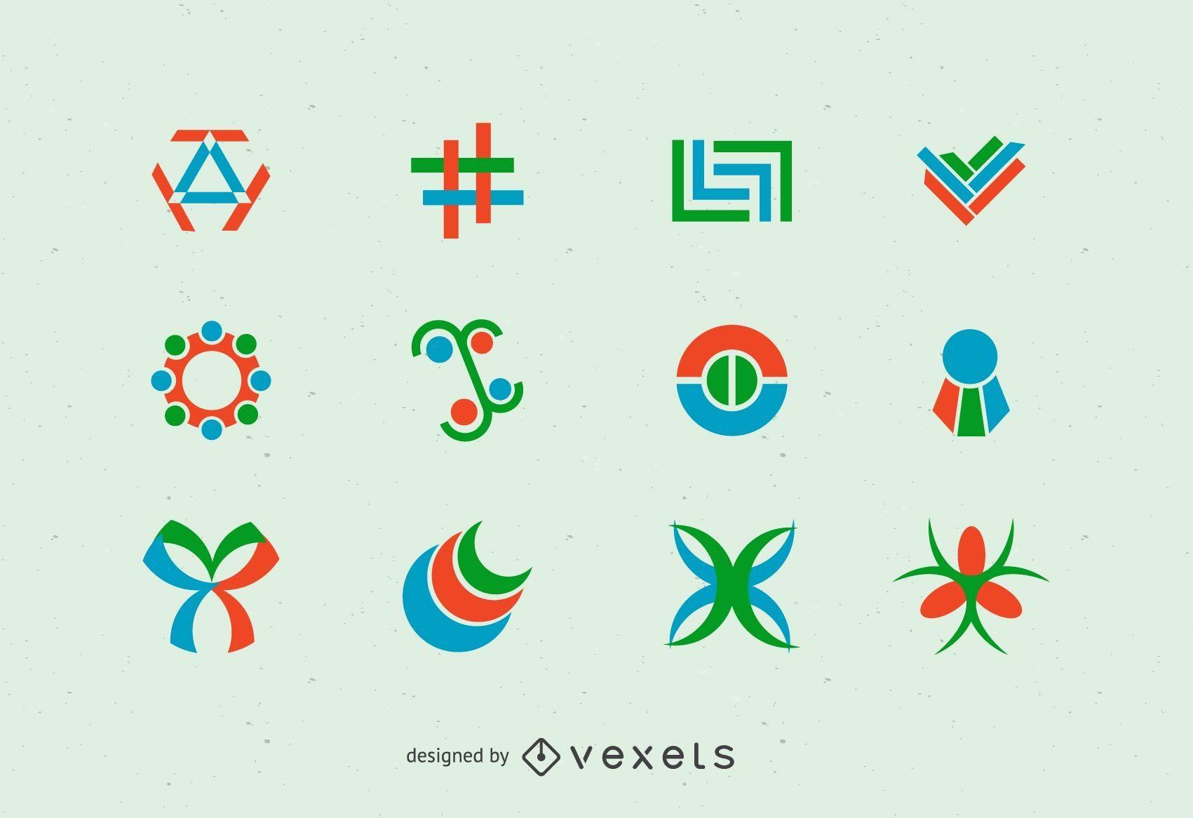 Abstrakter Vektor des Logos