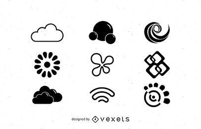 Conjunto de objetos de logotipo