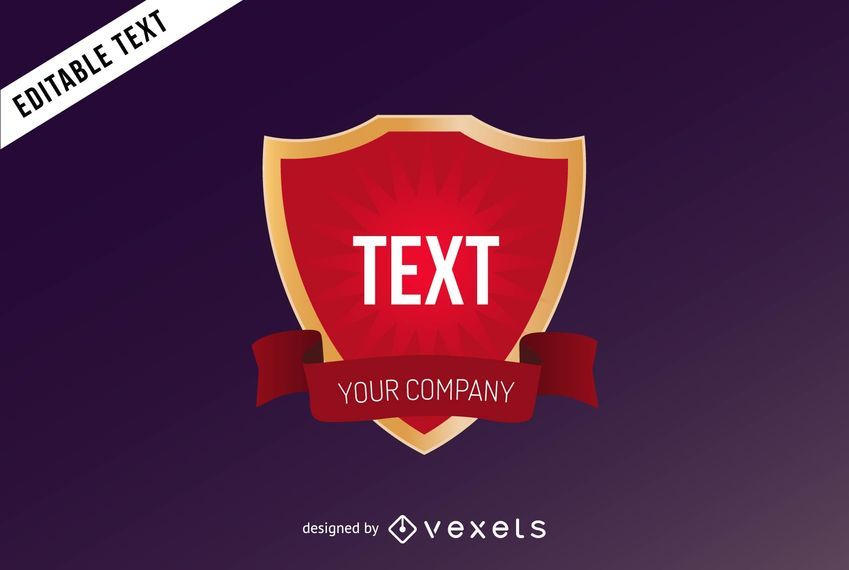 crest logo template design vector download