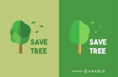 Salvar o modelo de logotipo de árvore