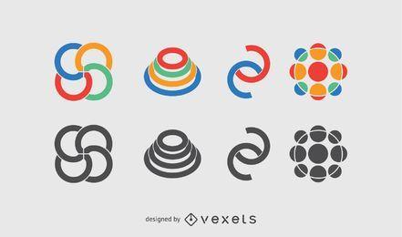 Abstraktes Logo-Pack