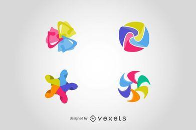 Establecer elementos de logotipo en formas abstractas