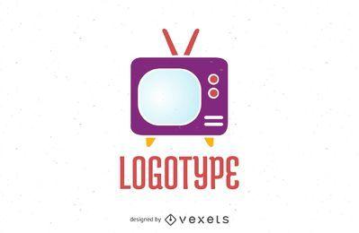 Logotipo de pantalla de televisión vintage