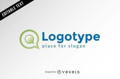 Plantilla de logotipo de comunicación