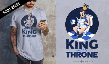 Diseño de camiseta de rey trono