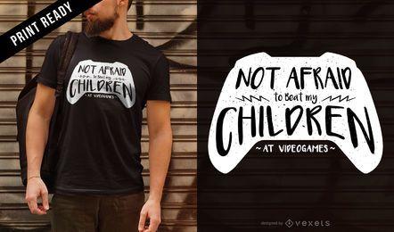 Diseño de camiseta de papá gamer