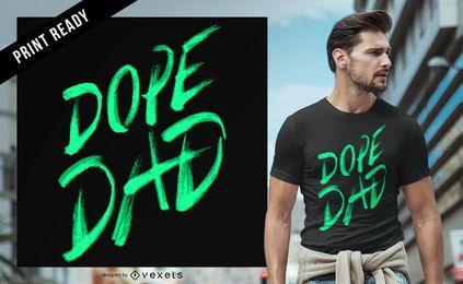 Design de t-shirt do pai louco