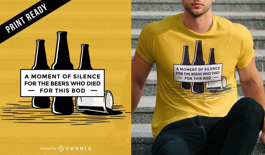 Bier Zitat T-Shirt Design
