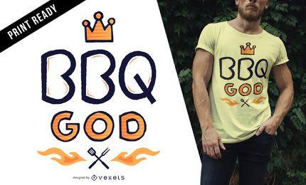 Projeto do t-shirt do deus do BBQ