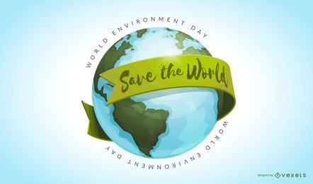 Save the world illustration