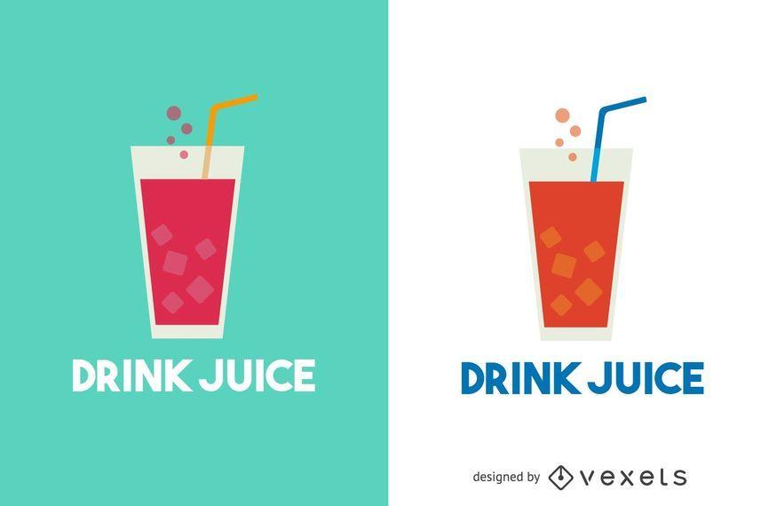Saft-Logo-Vorlage zu trinken