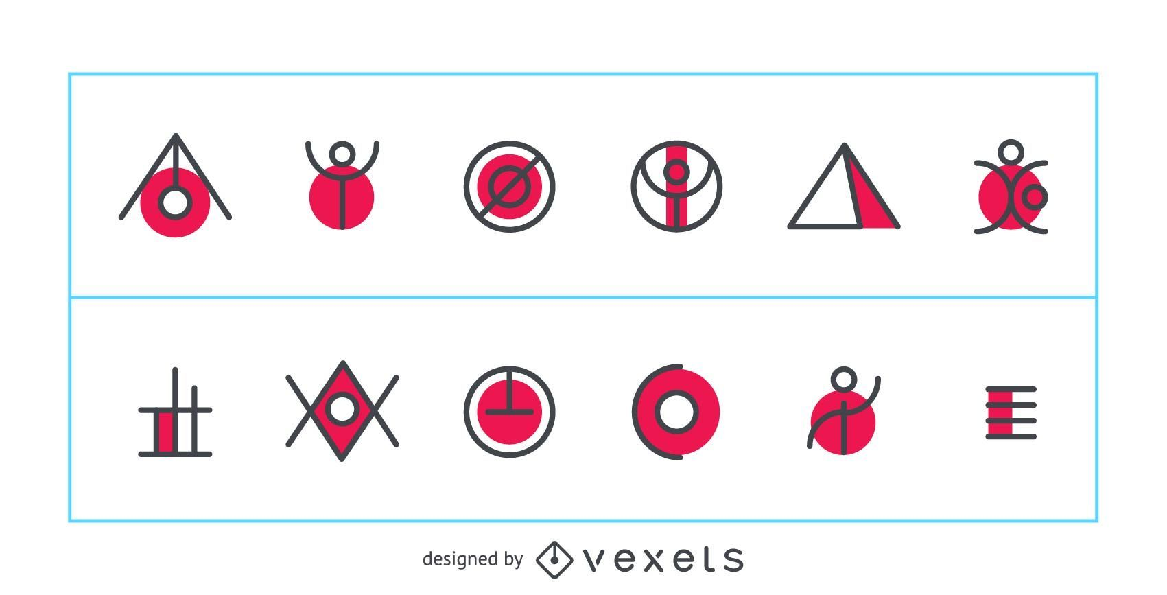 Abstract and geometric logo vector
