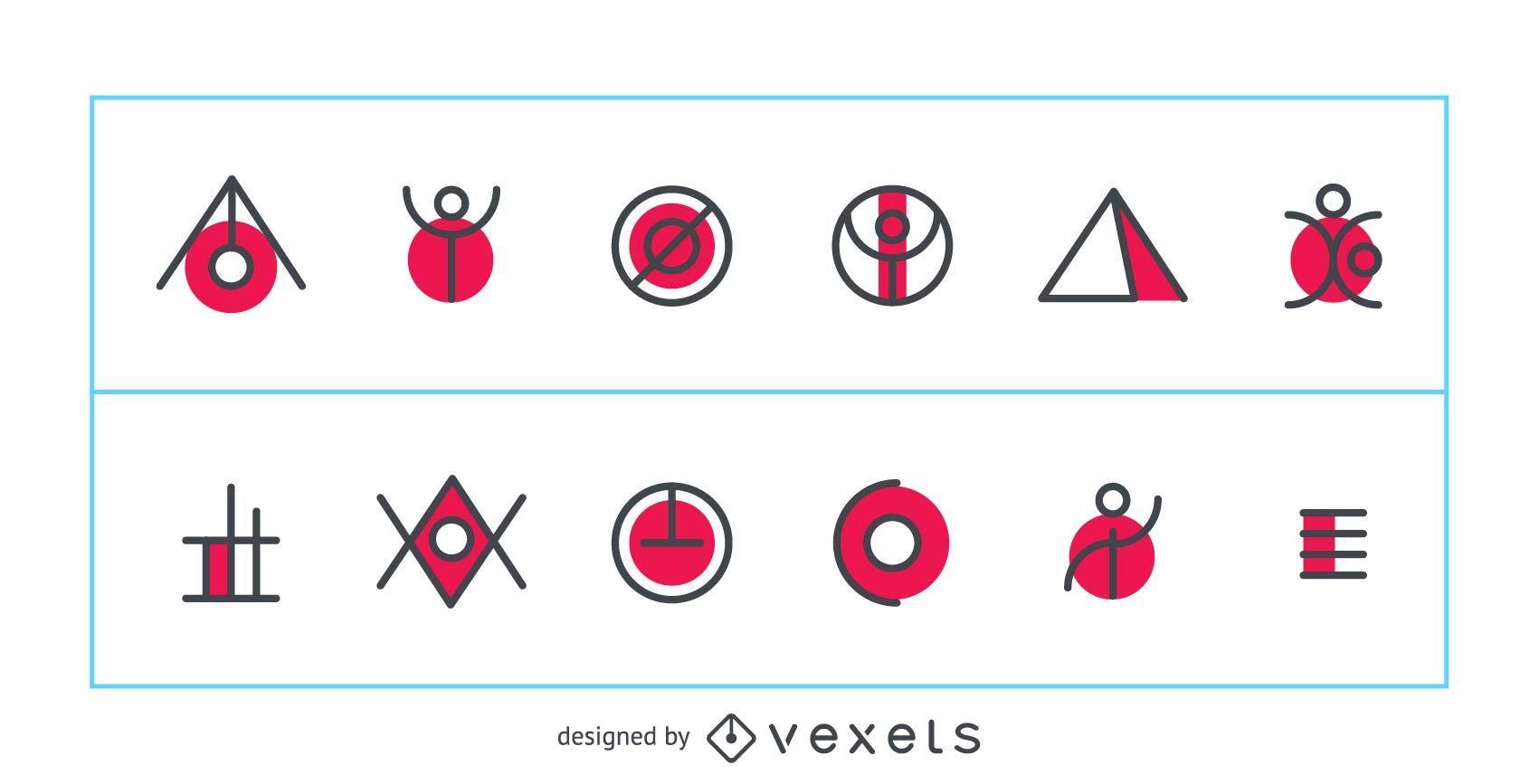 Vector logo abstracto y geom?trico